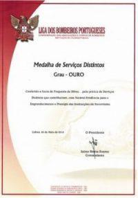 Liga dos Bombeiros Portugueses – Grau Ouro