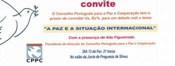 """Convite """"A Paz e a situação internacional"""""""