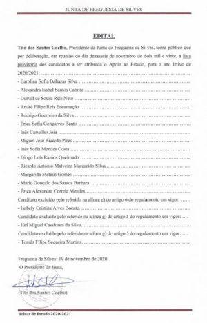 Edital-Lista provisória de Apoio ao Estudo